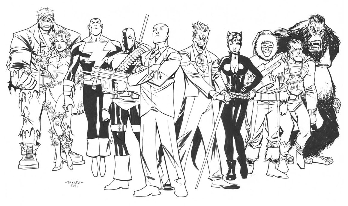 supervillains coloring pages to print - photo#12